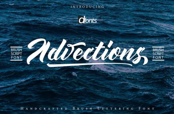 Advections Brush Script Font