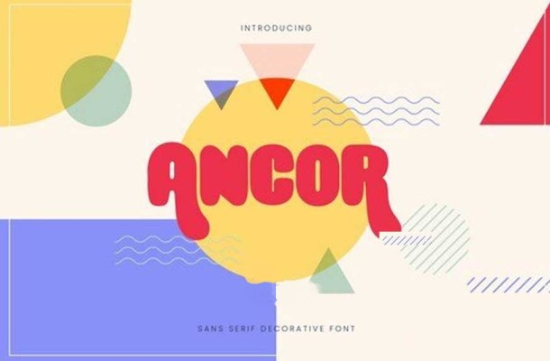 Ancor Bold Fun Sans Serif Font