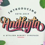 Andhyta Script Font
