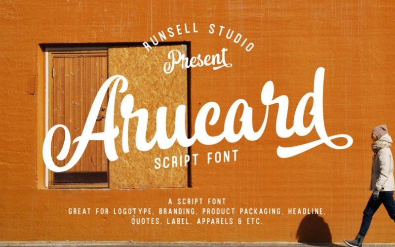 Arucard Brush Font-1