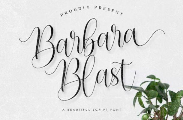 Barbara Blast Handwritten Font