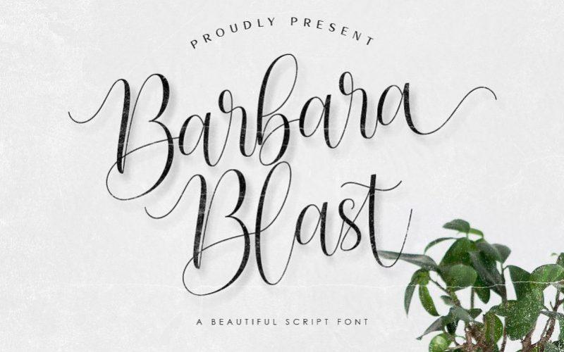 Barbara Blast Handwritten Font-1