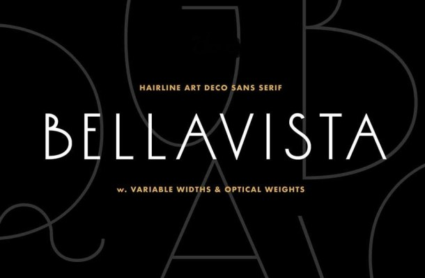 Bellavista – Art deco variable font