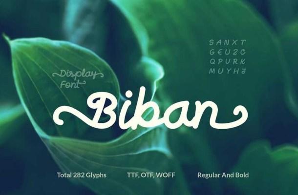 Biban Handwritten Script Font