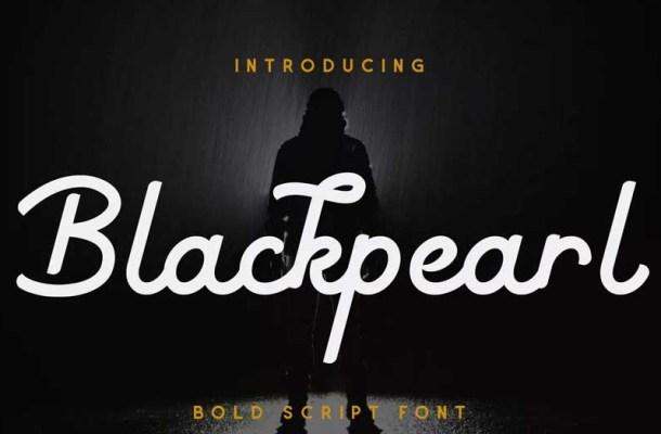 Blackpearl Monoline Script Font