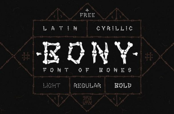 Bony Display Font