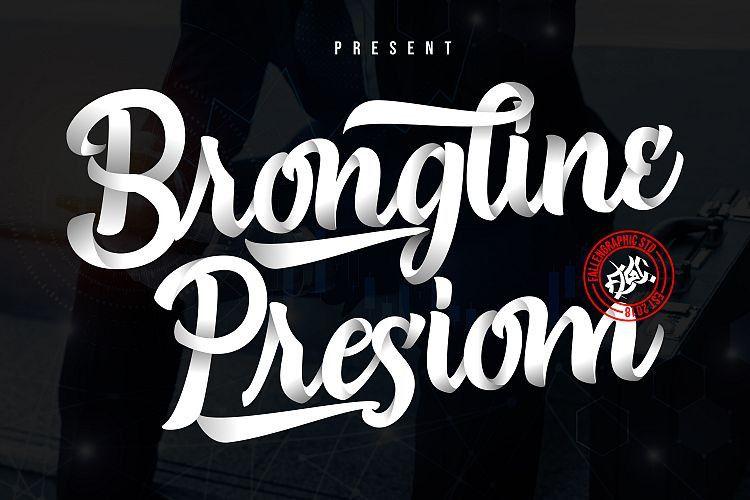 Brongline Presiom Script Font-1