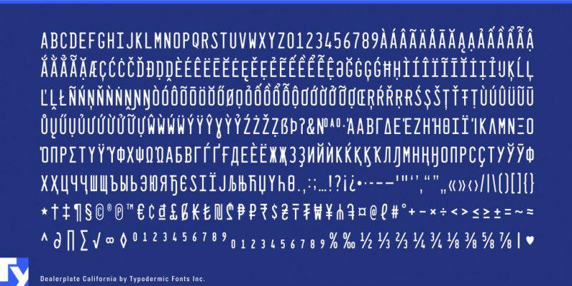 Dealerplate Font Family-3