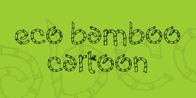 Eco Bamboo Cartoon Font-1