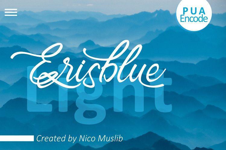 Erisblue Light Font-1