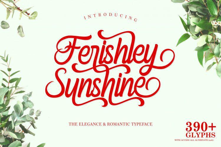 Ferishley Sunshine Script Font-1