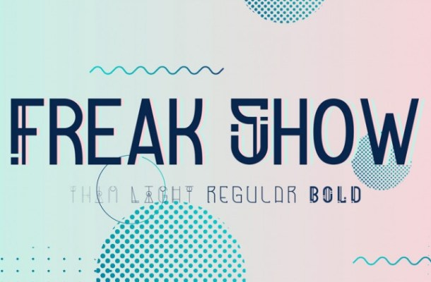 Freak Show Display Font