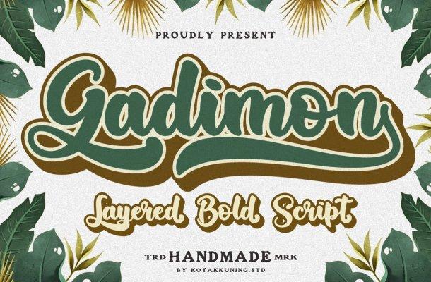 Gadimon Script Font