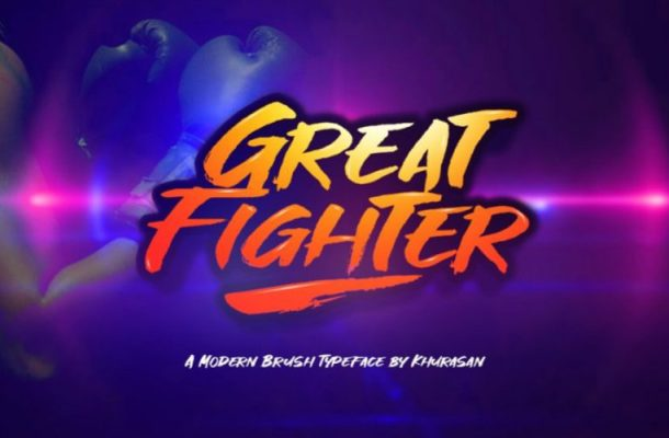 Great Fighter Brush Font