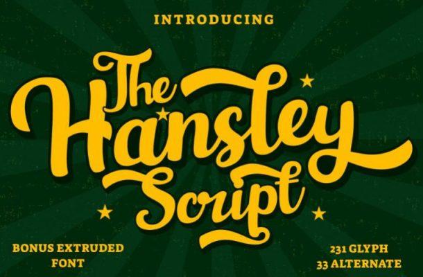 Hansley Script Font