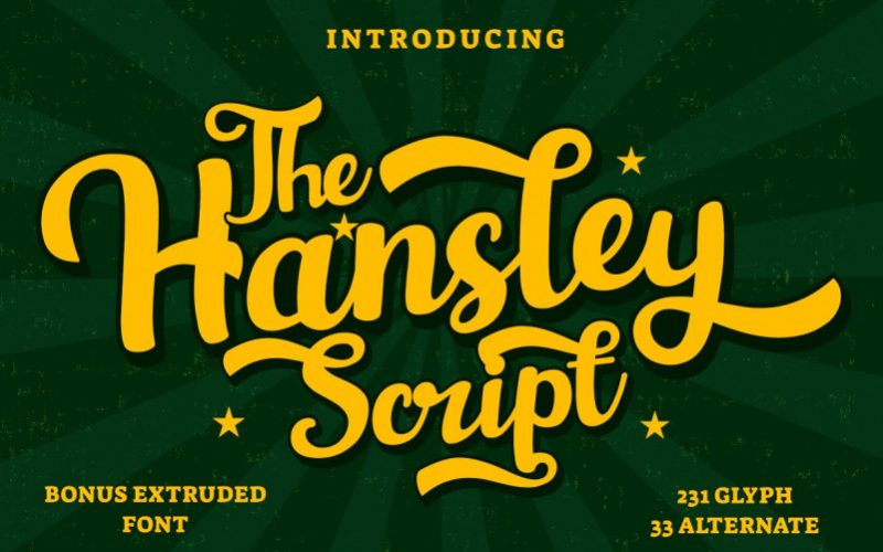 Hansley Script Font-1