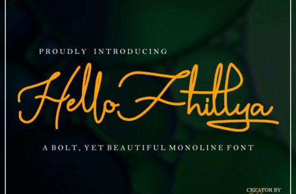 Hello Fhillya Script Font