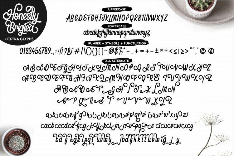 Honestly Brigtea Script Font-3