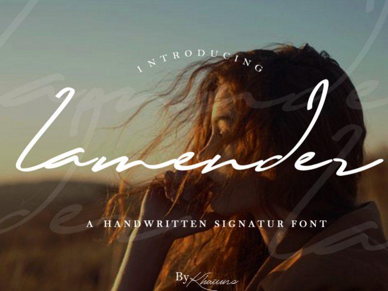 Lamender Handwritten Font-1