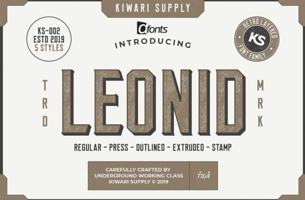 Leonid Retro Layered Font Pack