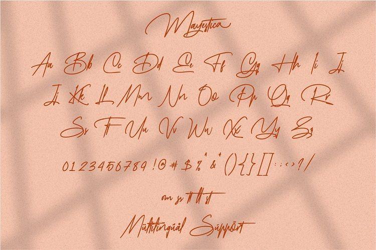 Mayestica Signature Font-3