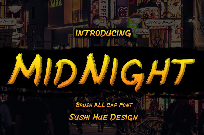 MidNight Brush Font - Dafont Free
