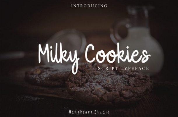 Milky Cookies Typeface