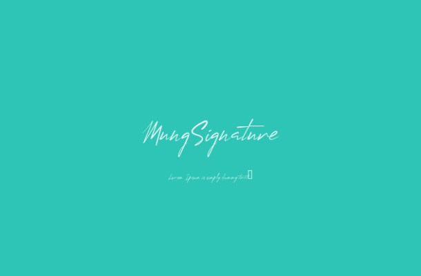 Mung Signature Font