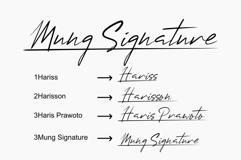 Mung Signature Font-2