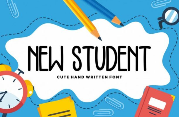 New Student Script Font
