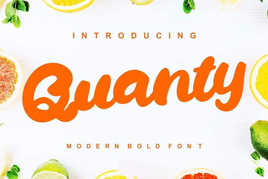 Quanty-Modern-Script-Bold-Font