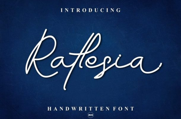 Raflesia Handwritten Font