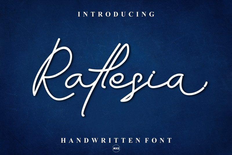 Raflesia Handwritten Font-1