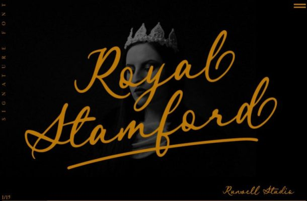 Royal Stamford Script Font