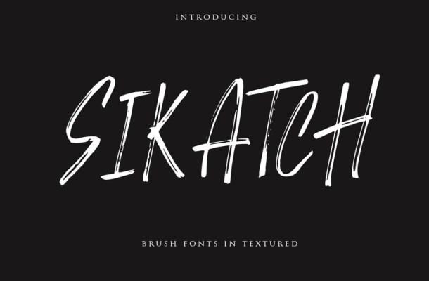 Sikatch Brush Font