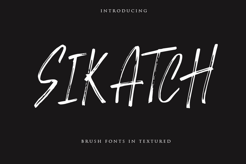Sikatch Brush Font-1