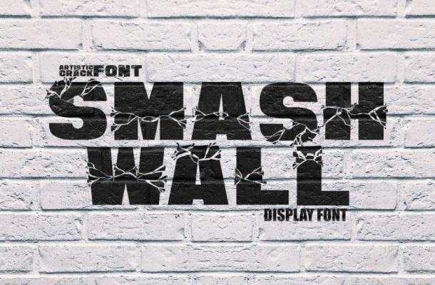 Smash Wall Display Font