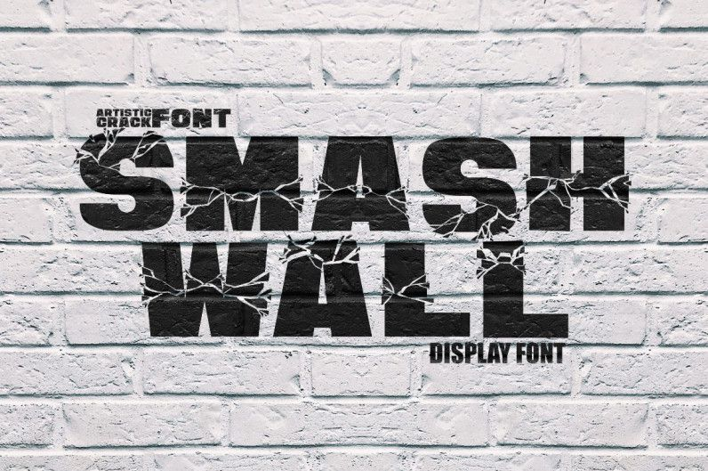 Smash Wall Display Font