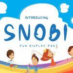 Snobi Display Font