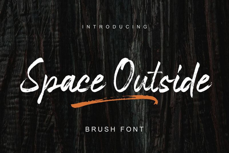 Space Outside Brush Font-1