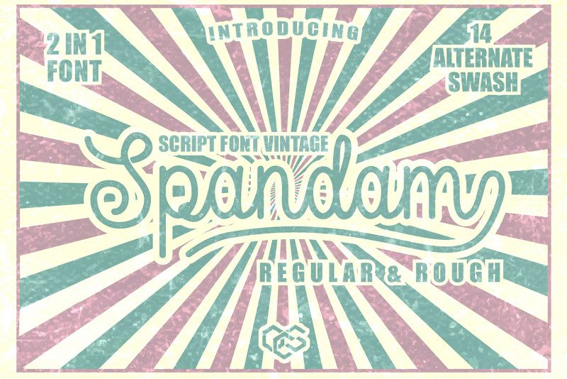 Spandam Vintage Font-1