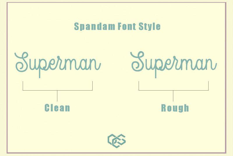 Spandam Vintage Font-2