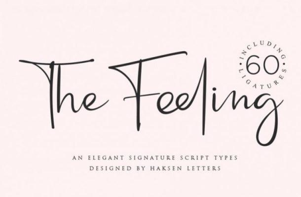 The Feeling Handwritten Font