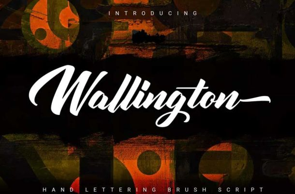 Wallington Hand Lettering Brush Font