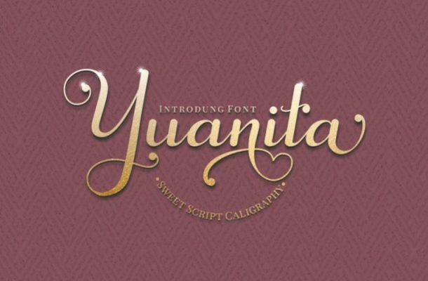Yuanita Calligraphy Font