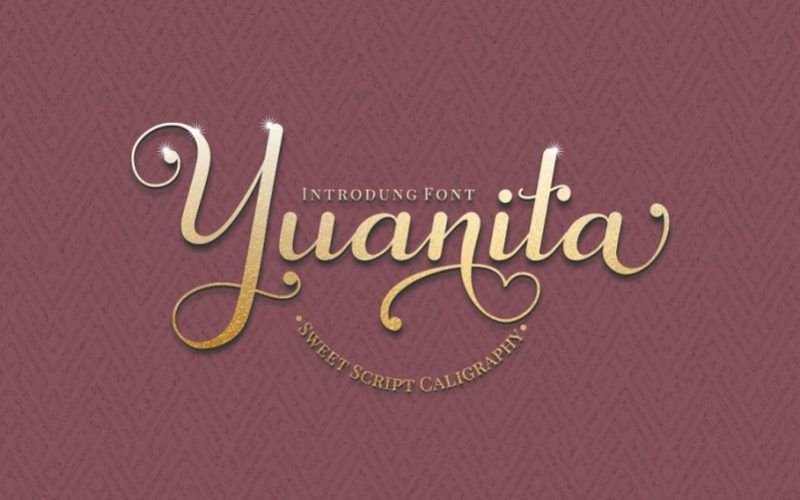 Yuanita Calligraphy Font-1