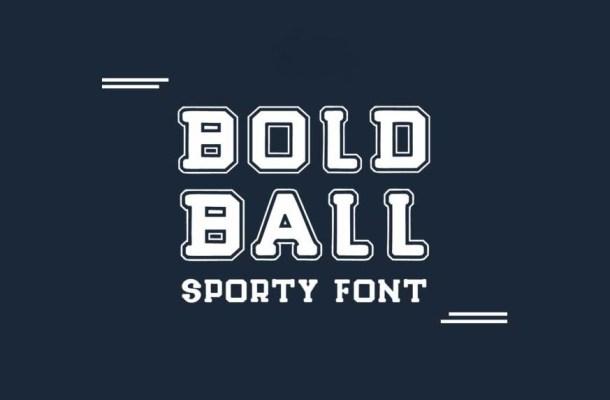 Bold Ball Font