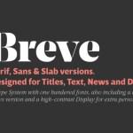 Breve Text Font Family