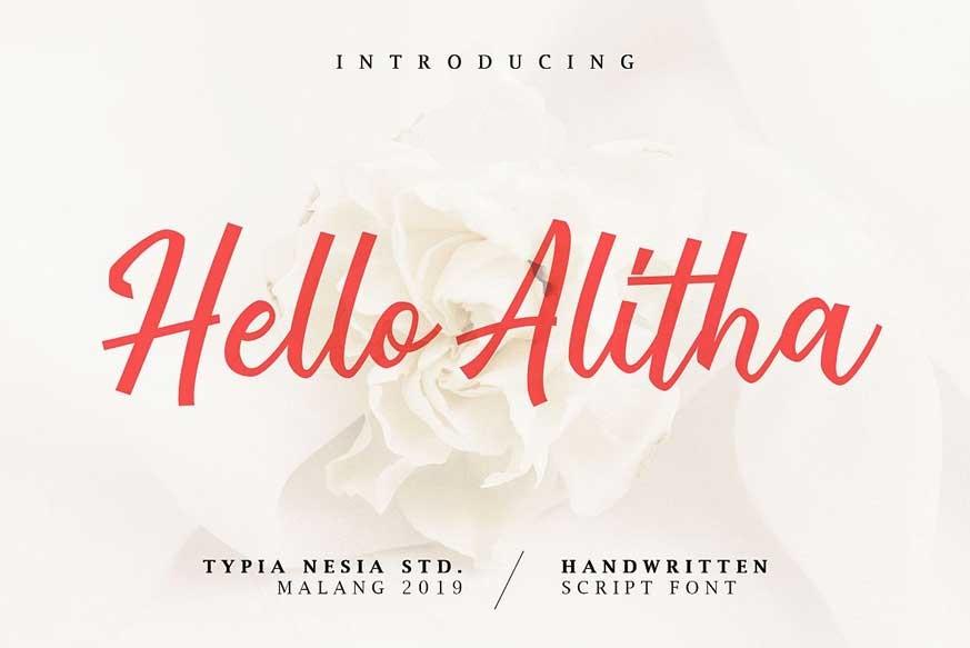 Hello Alitha Font-1