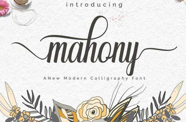 Mahony Script Font